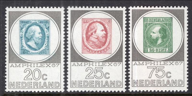 Netherlands 448-450 Stamp on Stamp MNH VF