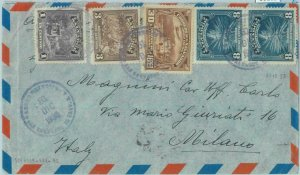86102 - SALVADOR -  POSTAL HISTORY -   AIRMAIL  COVER to ITALY  1936