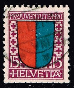 Switzerland Stamp 1920 PRO JUVENTUTE - Coat of Arms used stamp