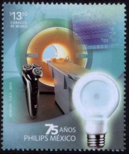 MEXICO 2897, 75yrs of Philips industry in Mexico. MNH