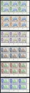 British Honduras SG166/71 KGVI 1949 Set of 6 in U/M Plate Blocks of SIX