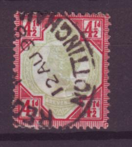 J13992 JLstamps 1887-92 great britain used #117 queen $42.50 scv