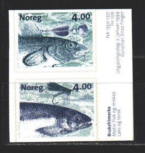 Norway. 1999. 1301-2. Fishing, fish. MNH.