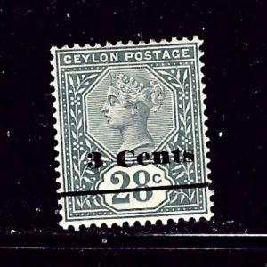 Ceylon 157 MHH 1892 surcharge