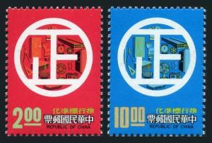 Taiwan 2066-2067,MNH. Michel 1215-1216. Standardization Day,1977.