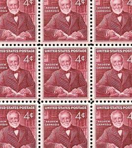 1960 - ANDREW CARNEGIE - #1171 Full Mint -MNH- Sheet of 70 Postage Stamps