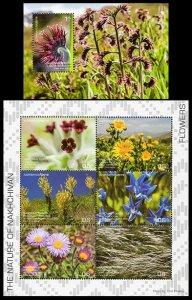 2019 Azerbaijan 1526-1531KL,1532/B244 Nakhchivan. Flowers