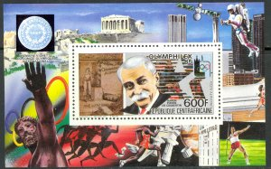 CENTRAL AFRICAN REPUBLIC 1985 OLYMPHILEX 85 Souvenir Sheet Sc 693 MH