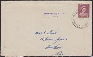 AUSTRALIA 1942 cover RAAF PO WAGGA WAGGA cds................................2980