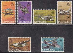 Seychelles 285-290  Seychelles Airport 1970