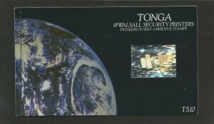 Tonga 1994 Self Adhesive Pioneers Booklet With SG 1281/9