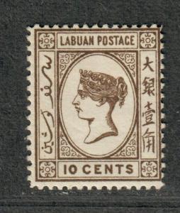 Labuan Sc#36 M/H/F-VF, Cv. $30