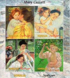Somalia 2005 MARY CASSAT Famous Paintings Sheetlet (4) Perforated MNH
