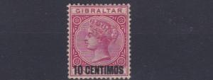 GIBRALTAR  1889  SG 16  10C ON 1D  UNUSED NO GUM