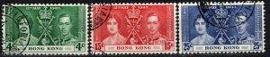 Hong Kong #151-3   F-VF Used  CV $12.50   (X1083)