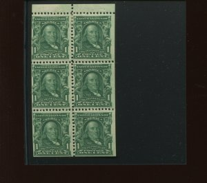 Scott 300b Franklin Mint Booklet Pane of 6 Stamps (Stock 300bp14)