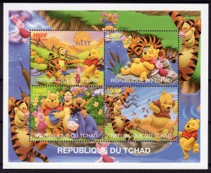 Chad 2008 WINNIE THE POOH Sheet Perforated Mint (NH)