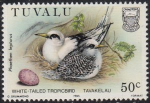 Tuvalu 1985 MNH Sc #289 50c White-tailed tropicbird - Birds and their eggs