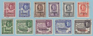 SOMALILAND PROTECTORATE 116 - 126  USED - NO FAULTS VERY FINE ! - W124