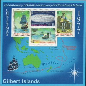 Gilbert Islands #300-303a, Complete Set(5), 1977, Captain Cook, Never Hinged