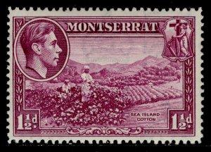 MONTSERRAT GVI SG103a, 1½d purple, LH MINT.