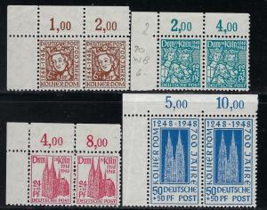 Germany AM-Post Scott # B298 - B301, mint nh, pairs