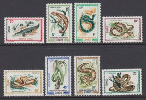 Congo Peoples Republic 243-250 Snakes MNH VF