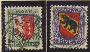Switzerland Stamps Scott #B18 To B19, Used, Short Set - Free U.S. Shipping, F...