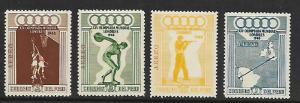 PERU C78-C81 MNH C/SET OLYMPICS 1948