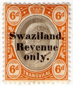 (I.B) Swaziland Revenue : Duty Stamp 6d