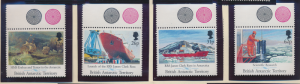 British Antarctic Territory Stamp Scott #184-7, Mint Never Hinged, With Selva...