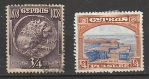 #114,125 Cyprus Mint OGH & Used