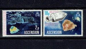 ASCENSION ISLAND - 1975 SKYLAB SPACE STATION - SCOTT 183 TO 184 - MNH
