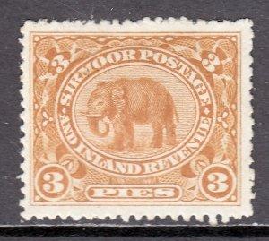 India (Sirmoor) - Scott #11 - MH - Thin - SCV $5.45