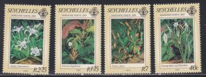 Seychelles # 524-527, Paintings by Marianne North, NH, 1/2 Cat.