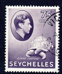 SEYCHELLES-- 1941- sg145a  -  75 cents  -   - used -  £11.00