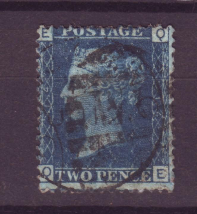 J14019 JLstamps 1858-69 great britain used #30 queen $32.50 scv