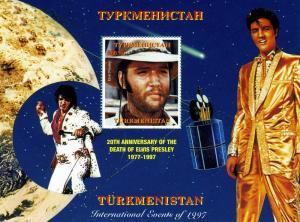 Turkmenistan Elvis Presley s/s Perforated mnh.vf