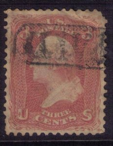 US SCOTT #65 USED PAID CANCELLATION F-VF