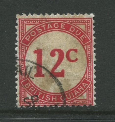 STAMP STATION PERTH British Guiana #J4 - Postage Due Used Wmk 4 CV$48.00