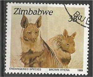 ZIMBABWE, 1989, used 38c Pangolin  Scott 598