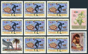 Panama 517-525,C368-C369,MNH.Mi 1164-1174. Central Americas & Caribbean Games.