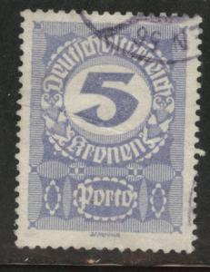 Austria Scott J89  Used*  from 1920-21 postage due set