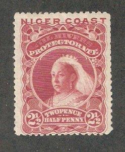 Niger Coast 1893,Victoria, 2 1/2p, Scott # 40,VF Mint Hinged* (N-2)