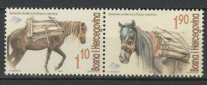 Bosnia and Herzegovina 2001 Horses 2 MNH stamps