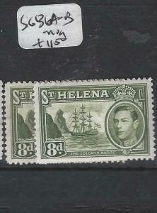 ST HELENA  (P0406B)  KGVI  BOAT  8D    SG 136-136A       MOG