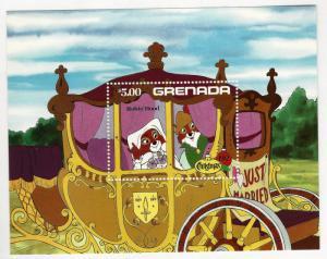 Beautiful Grenada Disney Robin Hood SS  MNH SC#1136...Topical bargain!
