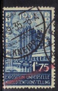 BELGIUM SC# 261 **USED** 1.75fr  1934    SEE SCAN