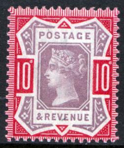 GB QV 1887 10d Dull Purple Carmine SG210 Mint Never Hinged MNH