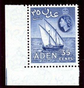 Aden 1963 QEII 35c violet-blue superb MNH. SG 57a.